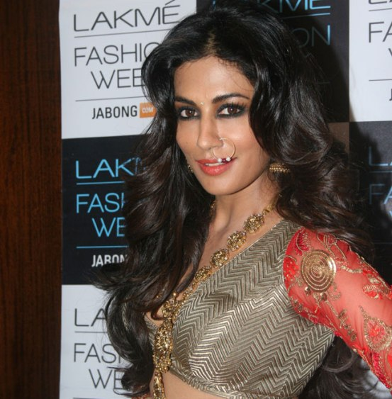 Chitrangada Singh in Traditional Red Lehenga Choli at Lakme Fashion Week Winter Festive 2014