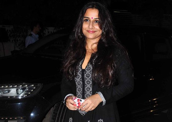 Vidya Balan in Black Anarkali Suits at Finding Fanny Movie Screening