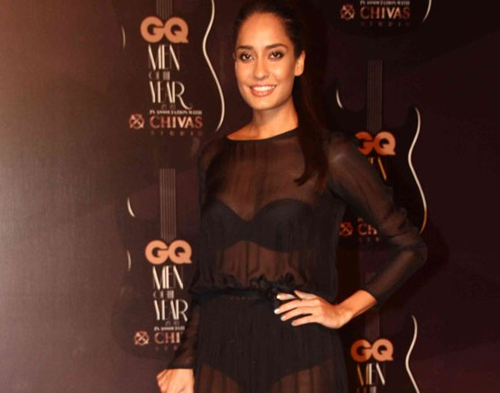Lisa Haydon in Black Sheer Gown at GQ Men of The Year Awards 2014