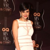 Mandira Bedi in White Evening Gown at GQ Men of The Year Awards 2014
