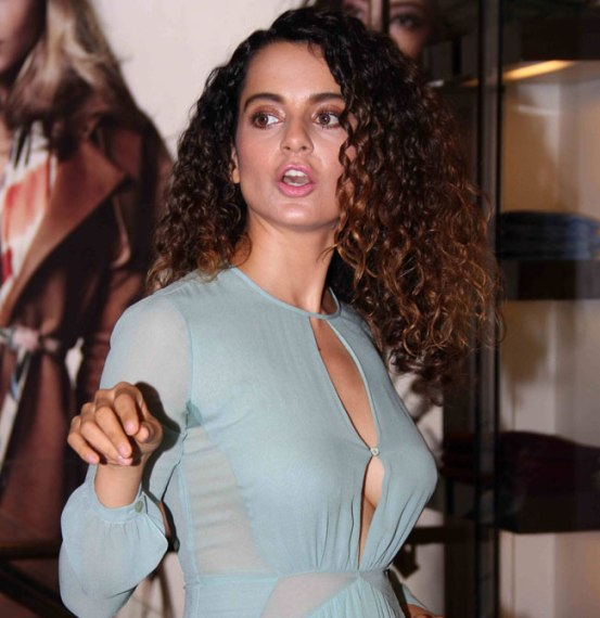 Kangana Ranaut in Sky Blue Frock at Launch New Grazia Cover