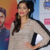 "Sonam Kapoor Promotes Movie ""Khoobsurat"" at Viviana Mall in Thane, Mumbai"