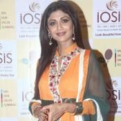 Shilpa Shetty in Orange Churidaar Suits at Inaugurates IOSIS Centre