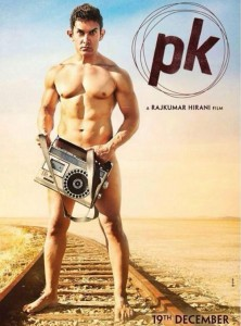 Aamir Khan Poses Nude for P.K. Poster First Look – P.K. Movie Naked Poster of Aamir Khan latest Nude Photos