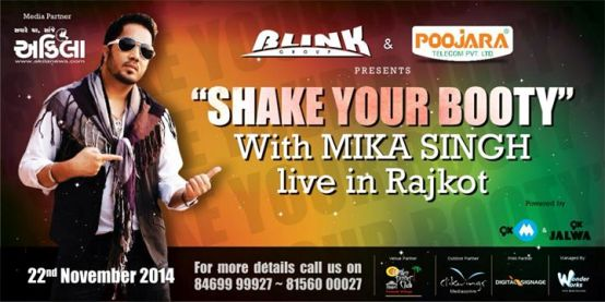 MIKA SINGH in RAJKOT – Mika Singh Live in Concert on November 2014 at Garden Dinner Club