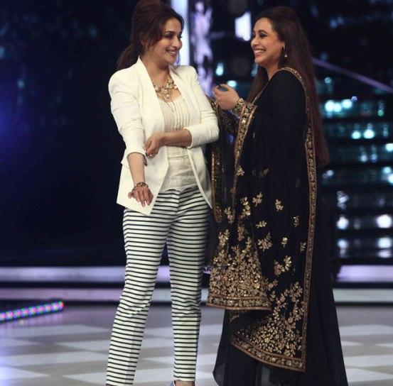 Rani mukerji in black floor length anarkali dress for for 1234 get on the dance floor actress name