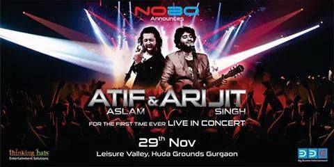 Atif Aslam Live In Concert Gurgaon – November 2014 at Huda grounds