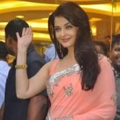 Aishwarya Rai in Pink Embedded Saree Launch Kalyan Jewellers 4th Store in Mumbai