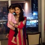 Aishwarya Rai in Red Anarkali on her Daughter Aaradhya Bachchan's 3rd Birthday