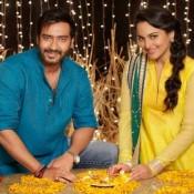 Ajay Devgan and Sonakshi Sinha Still in New Movie Action Jackson 2014