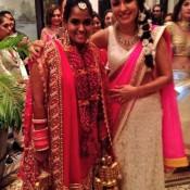 Arpita Khan in Wedding Lehenga – Bridal Red Lehenga Pics of Arpita Khan