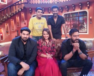 Sonakshi Sinha at Comedy Nights with Kapil to Promote 'Action Jackson' Movie