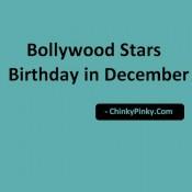 Bollywood Stars Birthday in December – Celebrities Actors Actress Born in December