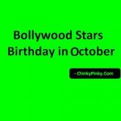 Bollywood Stars Birthday in October – Celebrities Actors Actress Born in October