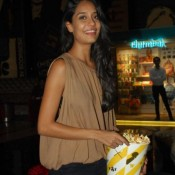 Lisa Haydon in Transparent Kaftan Top with Jeans at The Shaukeens Film Premiere in Mumbai