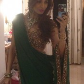 Malaika Arora Khan in Arpita Khan's Wedding Ceremony wore Designer Green Saree