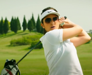 Parineeti Chopra Plays Golf in White T-Shirt Matching CAP Images from KILL DIL Film