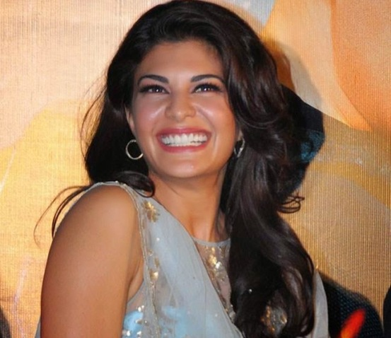Jacqueline Fernandez in Blue Lehenga at Kick Movie Trailer Launch