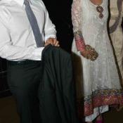 Sania Mirza in Arpita Khan Wedding wearing White Anarkali Suits Photos