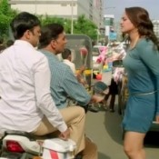 Sonakshi Sinha in Green Short Dress in Holiday Movie