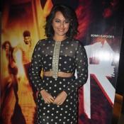 Sonakshi Sinha in Black long Skirt at Radha Song Launch from TEVAR Movie