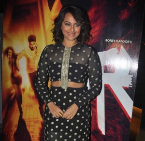 Sonakshi Sinha in Black long Skirt at Radha Song Launch from TEVAR Movie