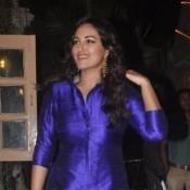 Sonakshi Sinha in Blue White Salwar Kameez – Latest Suits Images