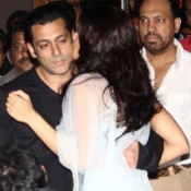 Jacqueline Fernandez Kisses Salman Khan at Kick Movie Trailer Launch