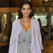 Sonam Kapoor in White Gown at Look Who`s Talking Media Interaction Event 2014