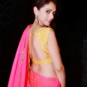Adity Rao Hydari in Backless Blouse Photos – Hot Pics in Designer Backless Saree