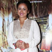 Divya Dutta in White Punjabi Dress Pics at Filmistaan Movie Screening