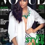 Deepika Padukone Hot in Vogue Magazine Cover June 2014 Issue