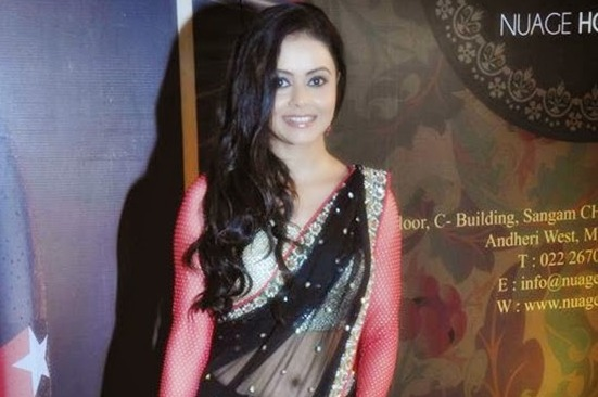 Devoleena Bhattacharjee in Black Transparent Saree Pics