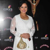 Divya Dutta in White Dress at Stardust Award 2014