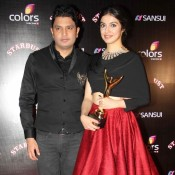 Divya Khosla in Red Long Skirt at SUNSUI Stardust Award 2014
