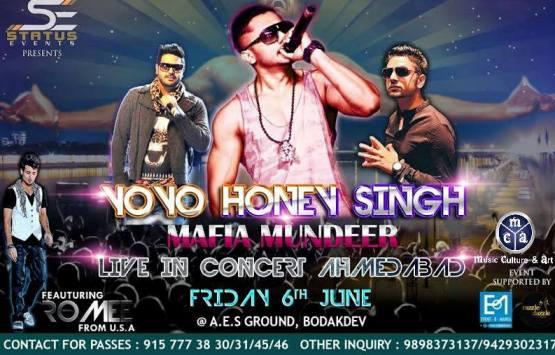 Yo Yo Honey Singh Live in Concert 2014 in Ahmedabad GujaratYo Yo Honey Singh Live in Concert 2014 in Ahmedabad Gujarat