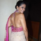 Mandira Bedi in Backless Blouse Photos – Hot Pics in Designer Backless Saree