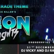 Neon Night – Masquerade Theme New Year Party in Surat on 31st December 2014