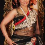 Rani Mukherjee in Transparent White Black Saree