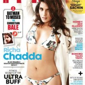 Richa Chadda in White Bikini for FHM Magazine December 2014 Cover Edition