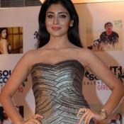 Shriya Saran in Off Shoulder One Piece Dress