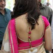 Tamanna Bhatia in Backless Blouse Photos – Hot Pics in Designer Backless Saree