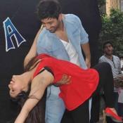 Zid Movie Promotion at Andheri in Mumbai by Mannara Chopra and Karanvir Sharma