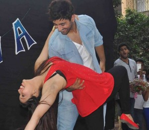 Zid Movie Promotion at Andheri in Mumbai by Mannara Chopra and Karanvir Sharma