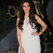 Aditi Rao Hydari in White Maxi Gown at Richa Chadha Birthday Celebration Party