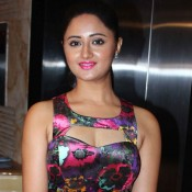 Rashmi Desai in Pink Floral Frock Dress at Bharat Ratna Dr Ambedkar Awards