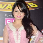 Giaa Manek in Pink Anarkali Dress Pics at Zee Gold Awards 2014
