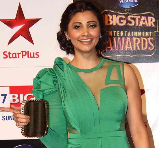 Daisy Shah in Green Gown at Big Star Entertainment Awards 2014