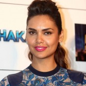 Esha Gupta Printed One Piece Dress at Humshakals Press Conference