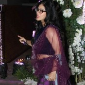 Kajol in Purple Lehenga at Manish Malhotra's Niece Riddhi Sangeet Ceremony